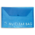 Папка-конверт с кнопкой  MY CLEAR BAG, ф. А5