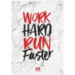 Тетрадь 48л., А4, клетка BG 'Work hard' НДС 10%
